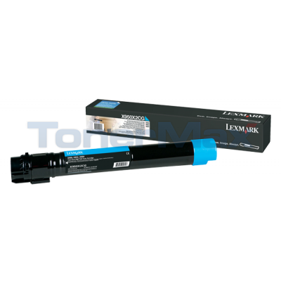 LEXMARK X950 TONER CARTRIDGE CYAN 22K